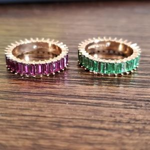 BAUBLEBAR MINI ALIDA RINGS SIZE 7 - BOTH INCLUDED